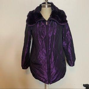 PURPLE! Fabulous Plush Lined & Collar Winter Coat